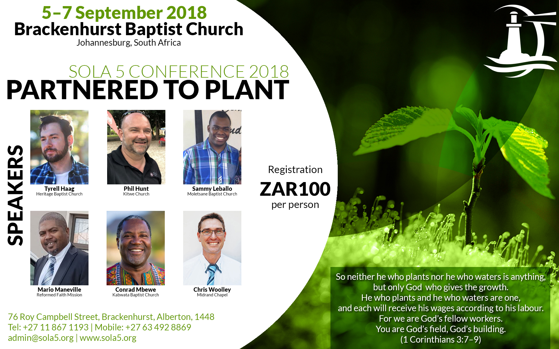 Sola 5 Conference 2018: Partnered to Plant | Brackenhurst Baptist Church