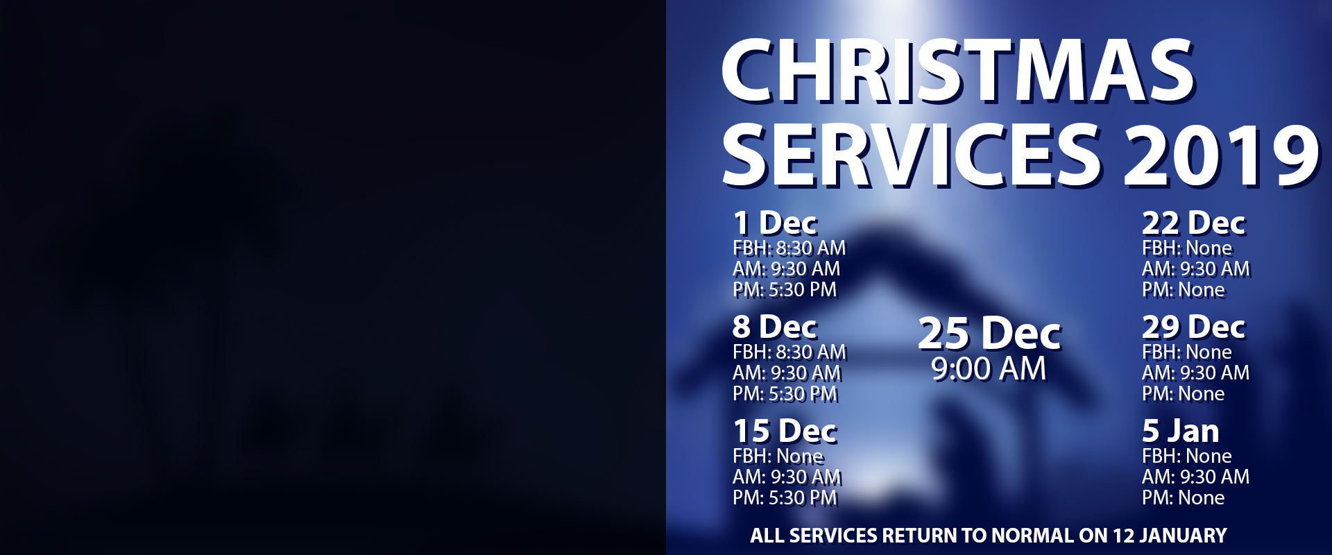 Christmas Season Calendar 2019